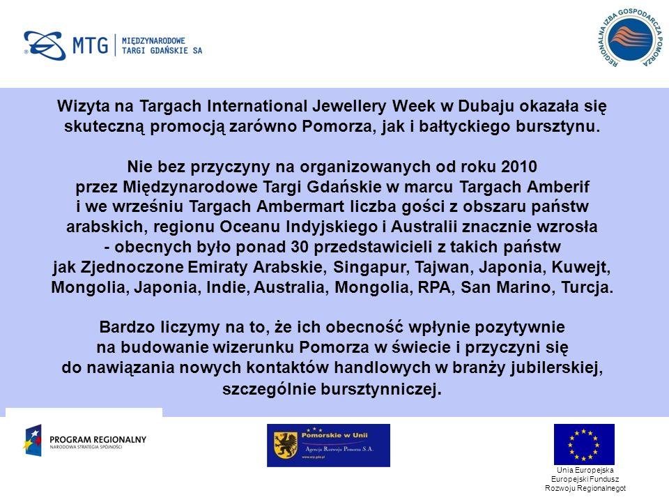 Wizyta na Targach International Jewellery Week w Dubaju okazała się skuteczną promocją zarówno Pomorza, jak i bałtyckiego bursztynu.