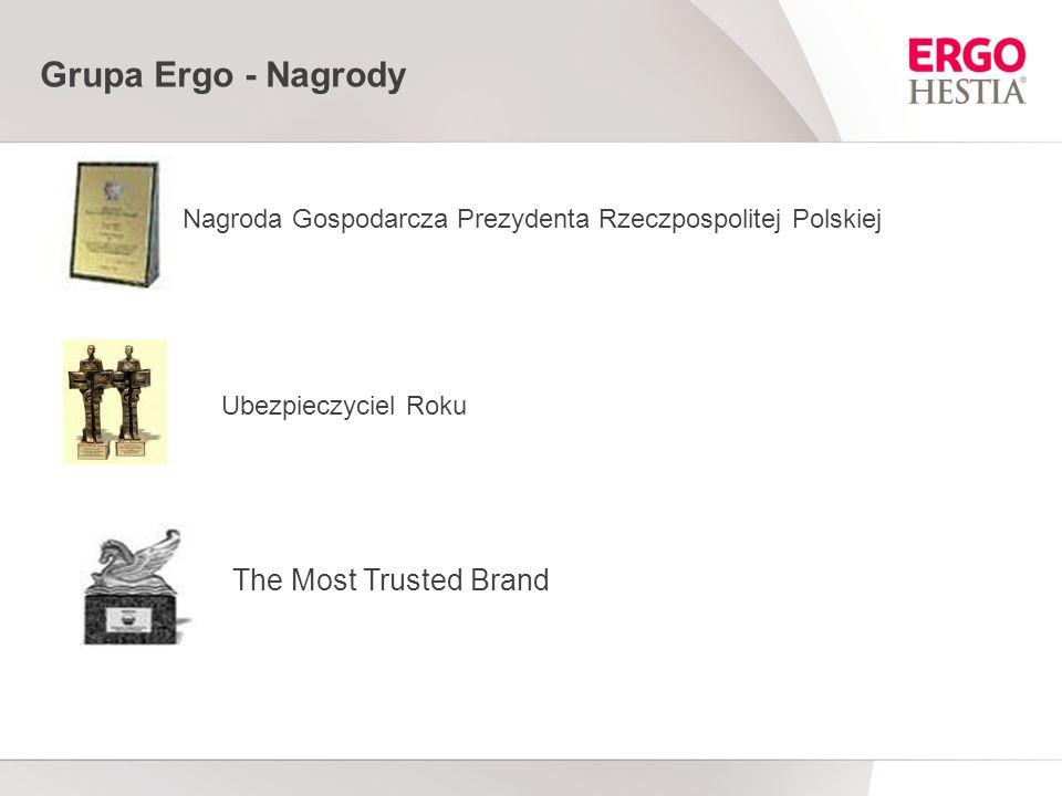 Grupa Ergo - Nagrody Nagroda Gospodarcza Prezydenta Rzeczpospolitej Polskiej Ubezpieczyciel Roku The Most Trusted Brand