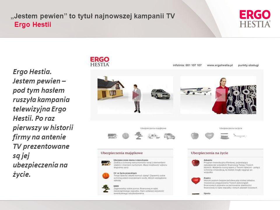 Jestem pewien to tytuł najnowszej kampanii TV Ergo Hestii Ergo Hestia.