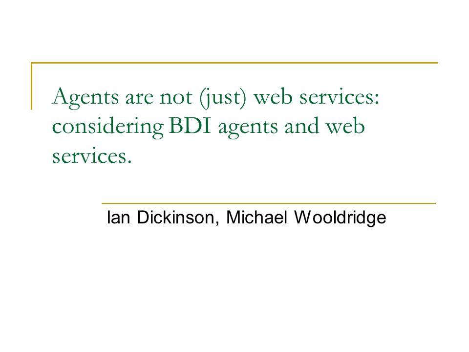 Abstrakt: Porównanie inteligentnych agentow i serwisów sieciowych.