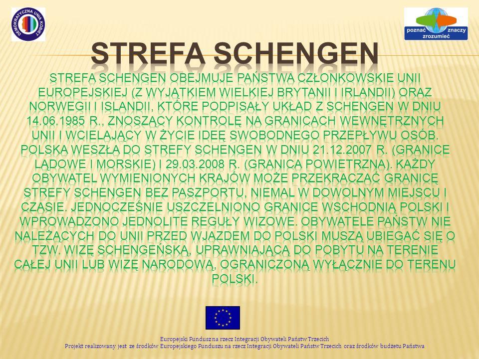 Europejski Fundusz na rzecz Integracji Obywateli Państw Trzecich Projekt realizowany jest ze środków Europejskiego Funduszu na rzecz Integracji Obywateli Państw Trzecich oraz środków budżetu Państwa