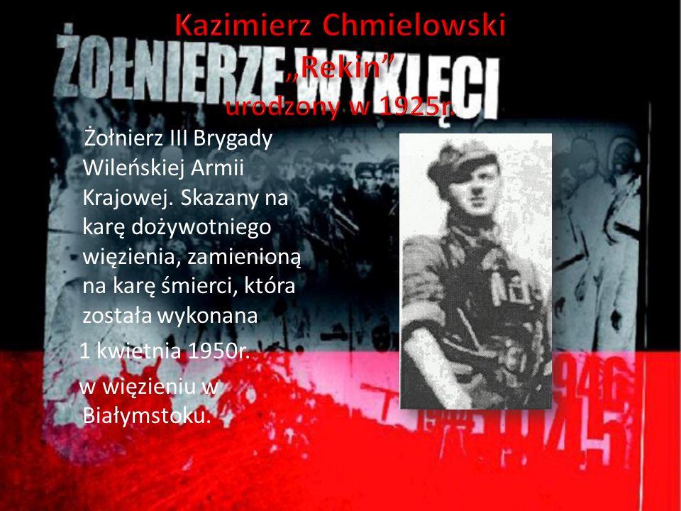Żołnierz III Brygady Wileńskiej Armii Krajowej. Skazany na karę dożywotniego więzienia, zamienioną na karę śmierci, która została wykonana 1 kwietnia