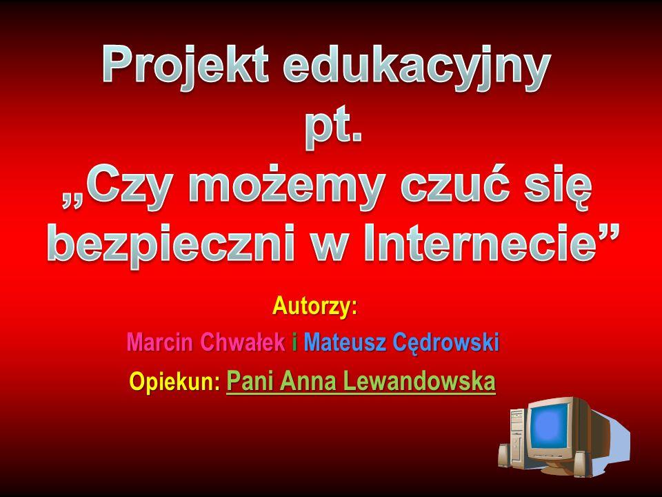 Autorzy: Marcin Chwałek i Mateusz Cędrowski Opiekun: Pani Anna Lewandowska