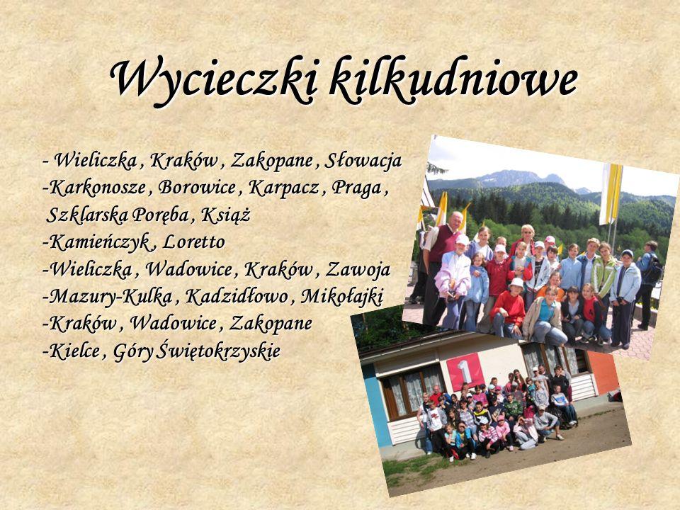 Wycieczki kilkudniowe - Wieliczka, Kraków, Zakopane, Słowacja -Karkonosze, Borowice, Karpacz, Praga, Szklarska Poręba, Książ Szklarska Poręba, Książ -