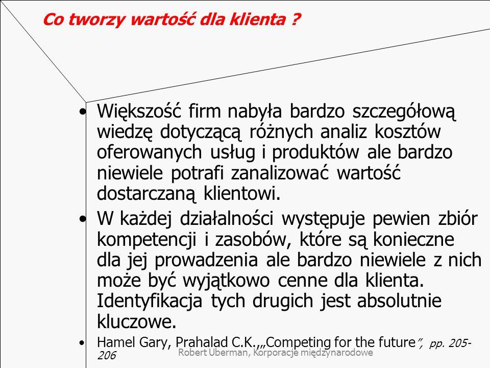 Modele tworzenia strategii KMN – szkoła zasobów Koncepcja core competences – kluczowych kompetencji Hamela i Prahalada, gdzie: kompetencje = umiejętności + zasoby Twarde i miękkie aspekty strategii Korporacja jako dynamiczny organizm oparty na współzależnościach i współdziałaniu a nie jako luźna kombinacja jednostek (Obłój, str.