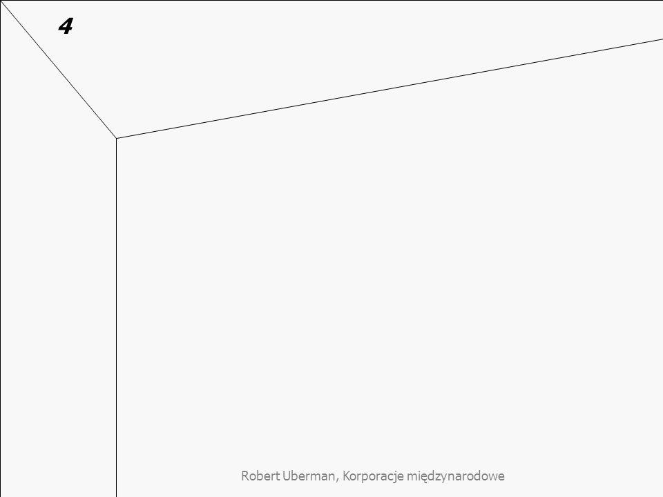 Robert Uberman, Korporacje międzynarodowe Kontekst kulturowy strategii KMN - podejście analityczne a holistyczne Proces tworzenia wartości KMN składa się z wielu elementów, które powinny być jak najgłębiej analizowane (USA) –przykład karty oceny obsługi klienta w McDonalds Proces tworzenia wartości to umiejętne budowanie relacji z partnerami (Japonia) –przykład skrzynki inicjatyw pracowniczych