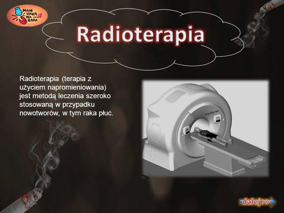 Radioterapia (terapia z użyciem napromieniowania) jest metodą leczenia szeroko stosowaną w przypadku nowotworów, w tym raka płuc.