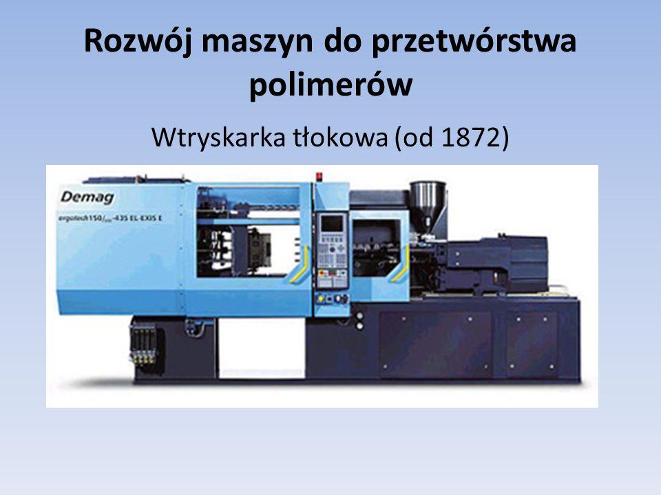 Rozwój maszyn do przetwórstwa polimerów Wtryskarka tłokowa (od 1872)