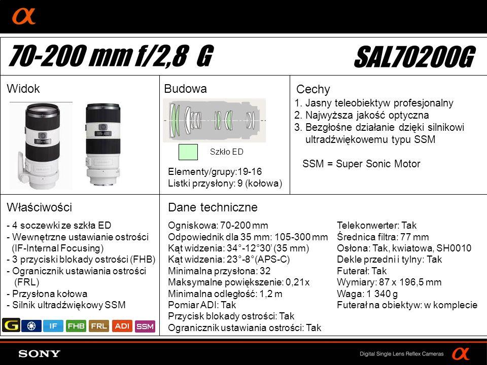 DT: For APS-size DSLR camera 1. Jasny teleobiektyw profesjonalny 2.