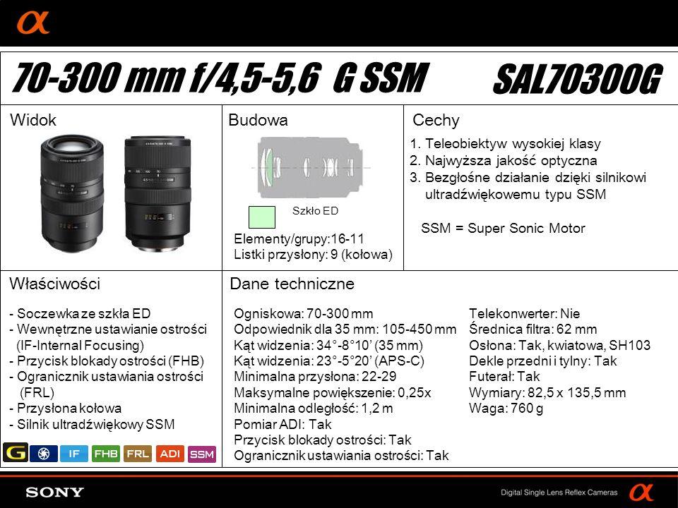 DT: For APS-size DSLR camera 1. Teleobiektyw wysokiej klasy 2. Najwyższa jakość optyczna 3. Bezgłośne działanie dzięki silnikowi ultradźwiękowemu typu