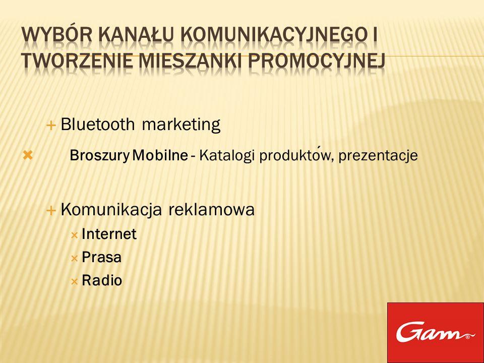 Bluetooth marketing Broszury Mobilne - Katalogi produktow, prezentacje Komunikacja reklamowa Internet Prasa Radio