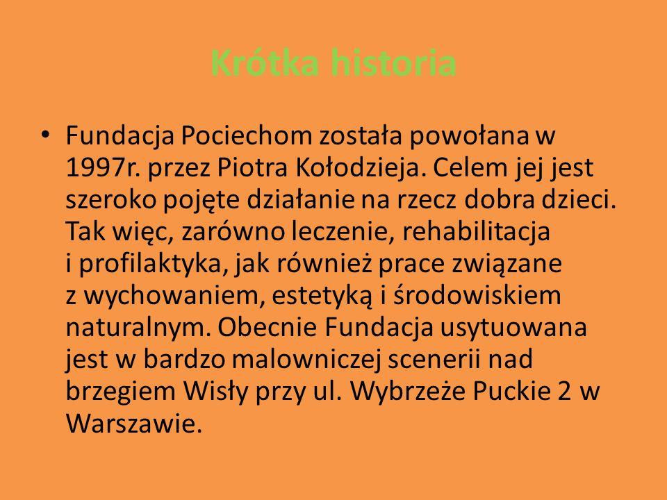 Krótka historia Fundacja Pociechom została powołana w 1997r.
