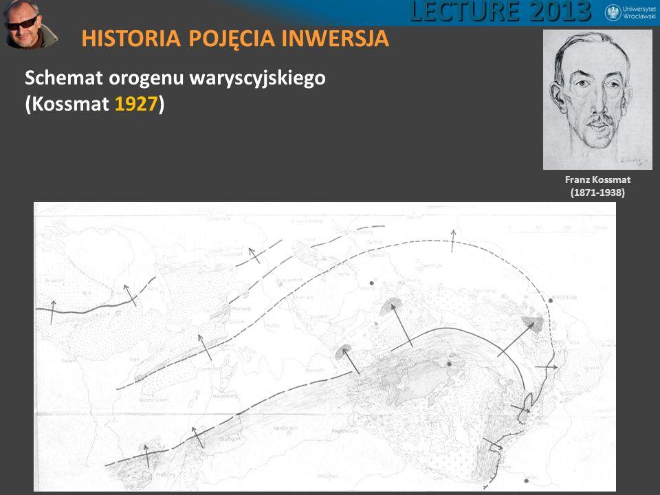 HISTORIA POJĘCIA INWERSJA LECTURE 2013 Schemat orogenu waryscyjskiego (Kossmat 1927) Franz Kossmat (1871-1938)
