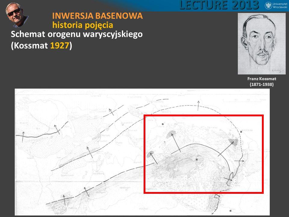 Schemat orogenu waryscyjskiego (Kossmat 1927) Franz Kossmat (1871-1938) LECTURE 2013 INWERSJA BASENOWA historia pojęcia