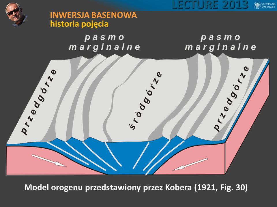 Model orogenu przedstawiony przez Kobera (1921, Fig. 30) LECTURE 2013 INWERSJA BASENOWA historia pojęcia