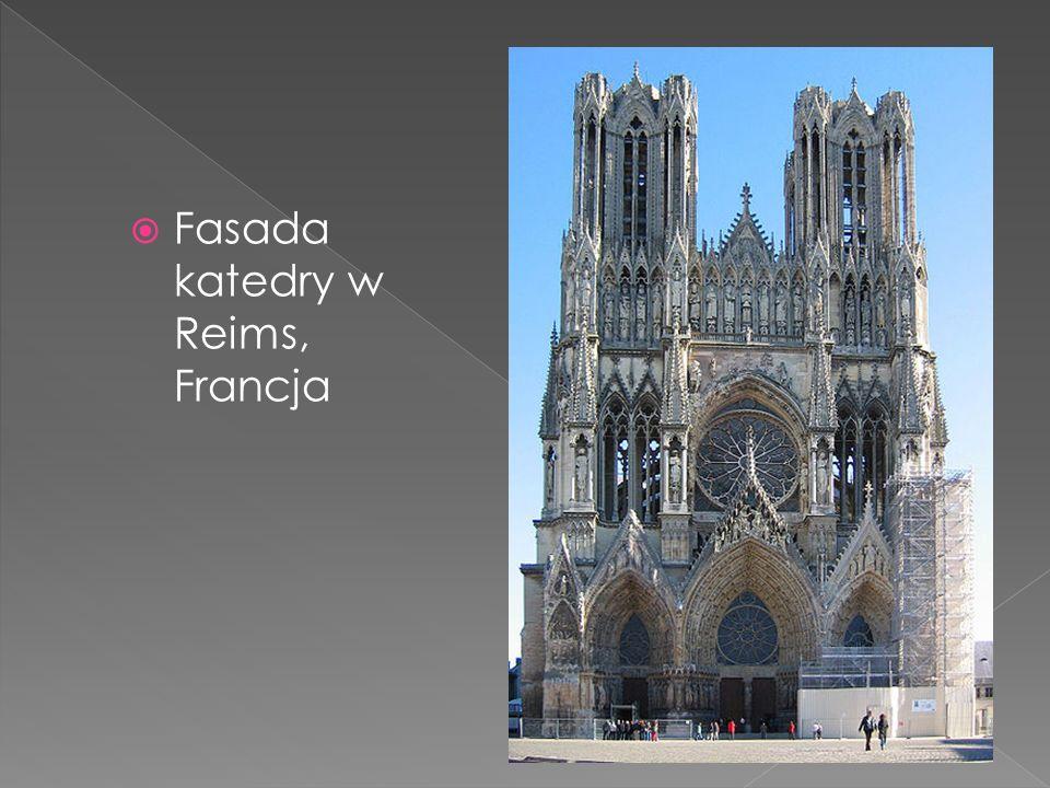 Fasada katedry w Reims, Francja
