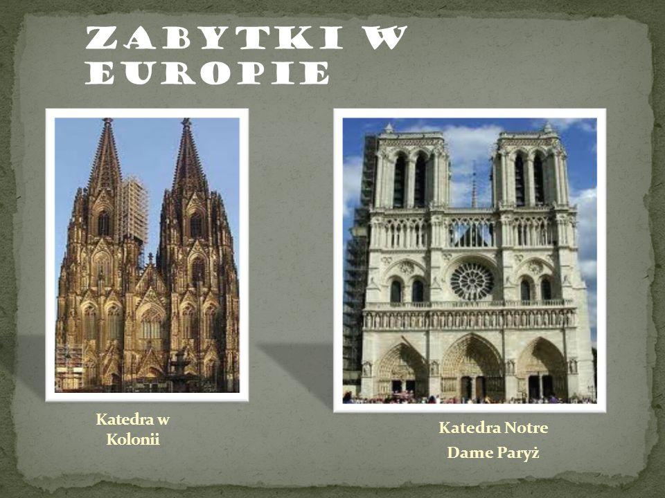 Katedra Notre Dame Paryż ZABYTKI W EUROPIE