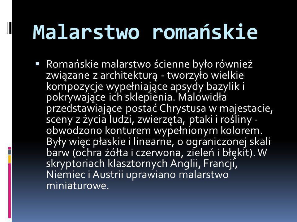 Architektura romańska Architektura romańska operowała zrytmizowaną, wymierną przestrzenią dzięki zastosowaniu przęseł w budowlach stanowiących zespół geometrycznych brył wznoszonych z kamiennych ciosów.