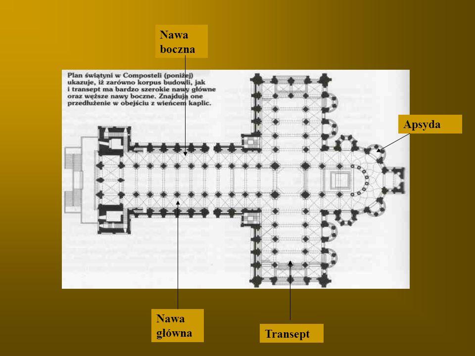 Nawa boczna Nawa główna Transept Apsyda