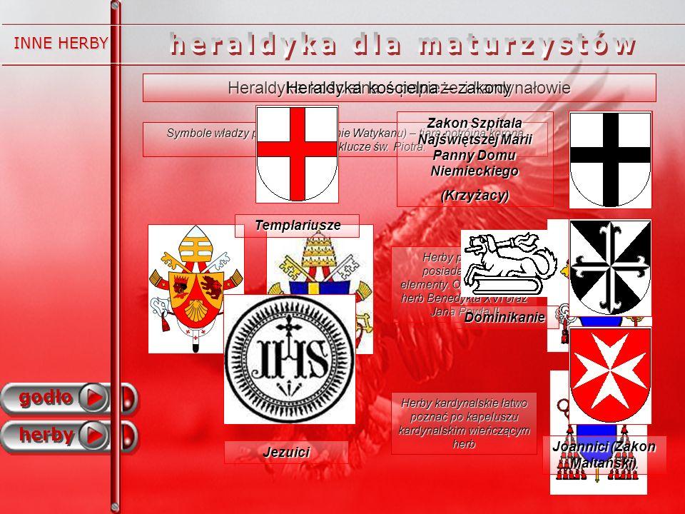 godło herby INNE HERBY Heraldyka kościelna – papieże i kardynałowie Symbole władzy papieskiej (obecnie Watykanu) – tiara potrójna korona papieska oraz