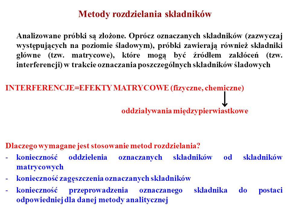 MASKOWANIE – przekształcenie składnika przeszkadzającego do postaci, która nie wpływa na oznaczenie daną metodą – zwiększenie selektywności danej metody bez konieczności rozdzielenia, tzw.