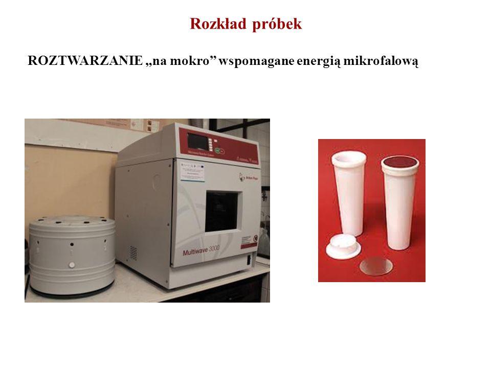 Rozkład próbek ROZTWARZANIE na mokro wspomagane energią mikrofalową
