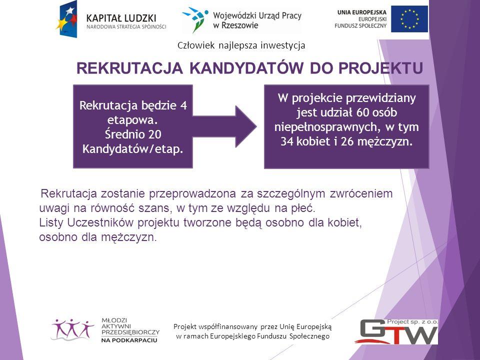 Człowiek najlepsza inwestycja Kryteria formalne udziału w projekcie: Miejsce zamieszkania (woj.