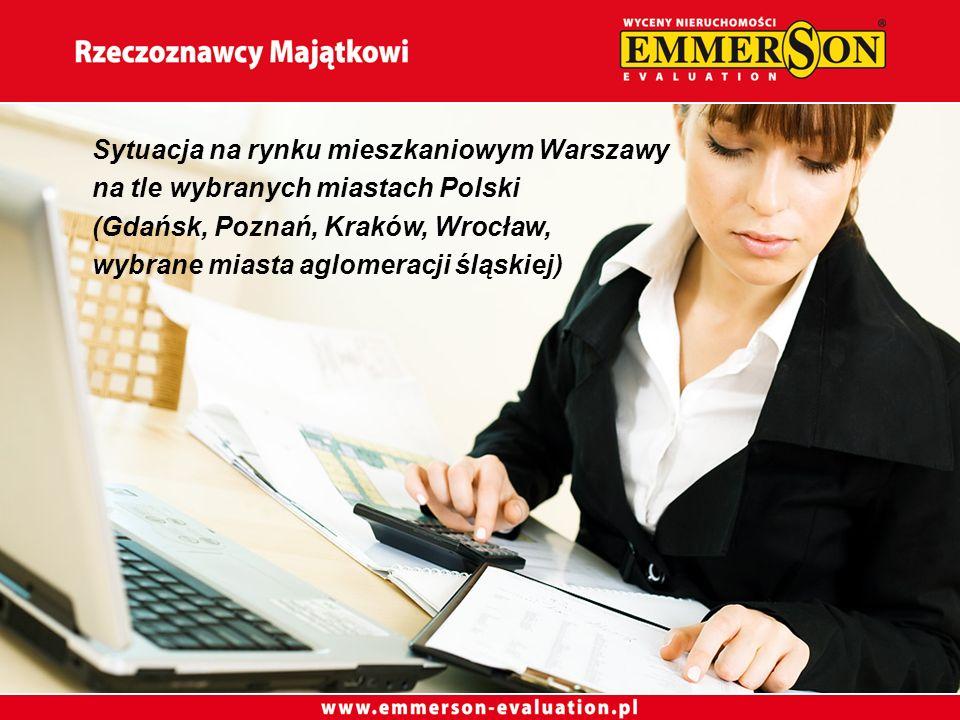 Sytuacja na rynku mieszkaniowym Warszawy na tle wybranych miastach Polski (Gdańsk, Poznań, Kraków, Wrocław, wybrane miasta aglomeracji śląskiej)