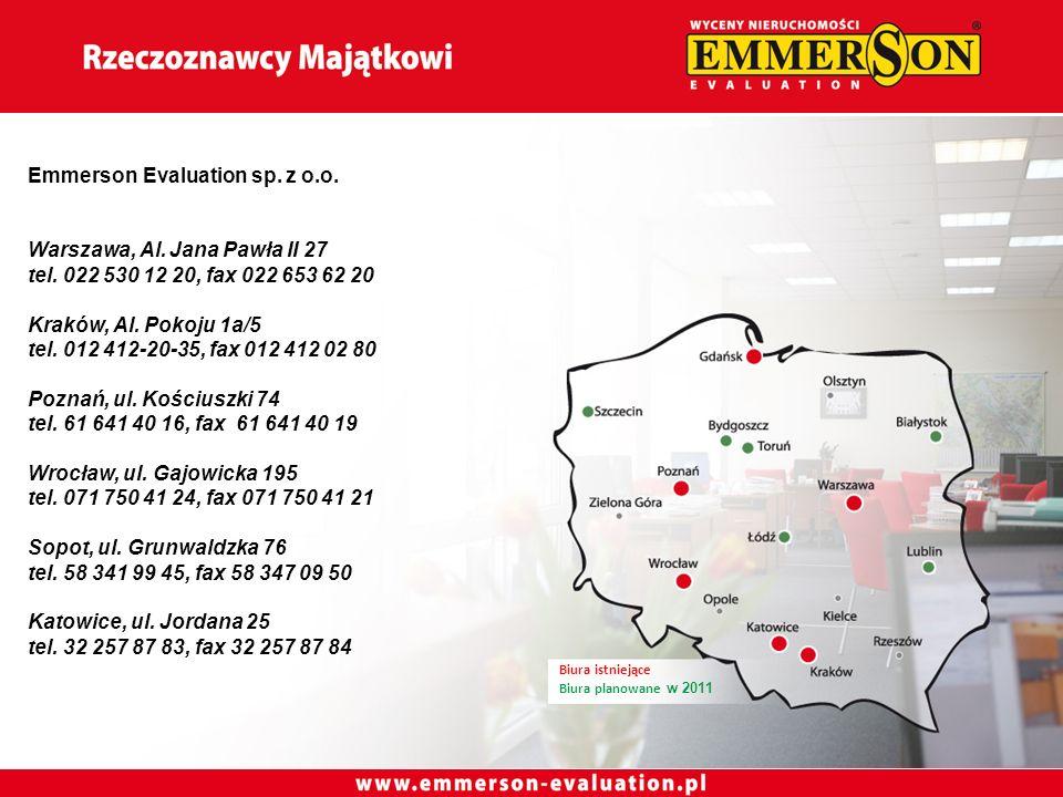 Emmerson Evaluation sp. z o.o. Warszawa, Al. Jana Pawła II 27 tel.
