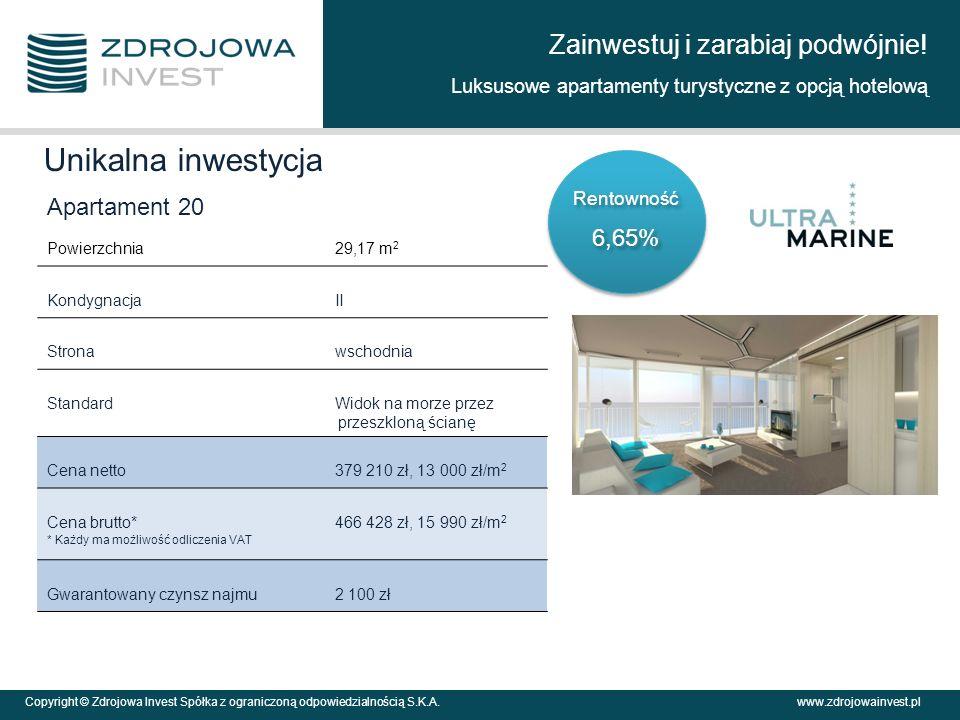 Zainwestuj i zarabiaj podwójnie! Luksusowe apartamenty turystyczne z opcją hotelową Copyright © Zdrojowa Invest Spółka z ograniczoną odpowiedzialności