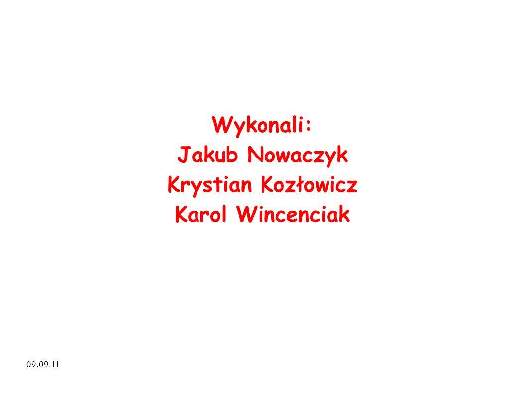 09.09.11 Wykonali: Jakub Nowaczyk Krystian Kozłowicz Karol Wincenciak