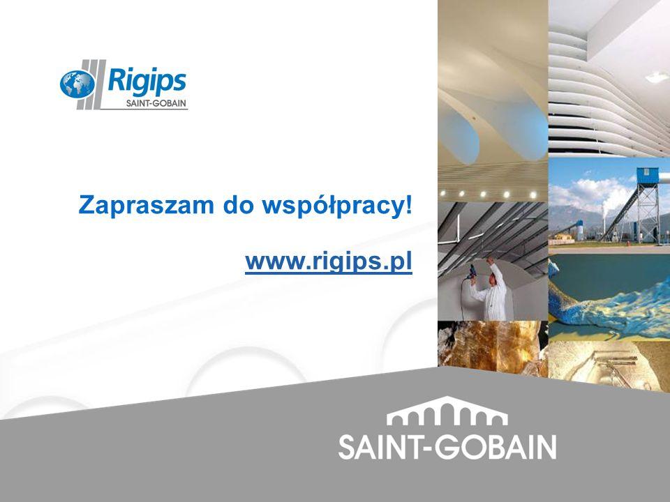 Zapraszam do współpracy! www.rigips.pl www.rigips.pl