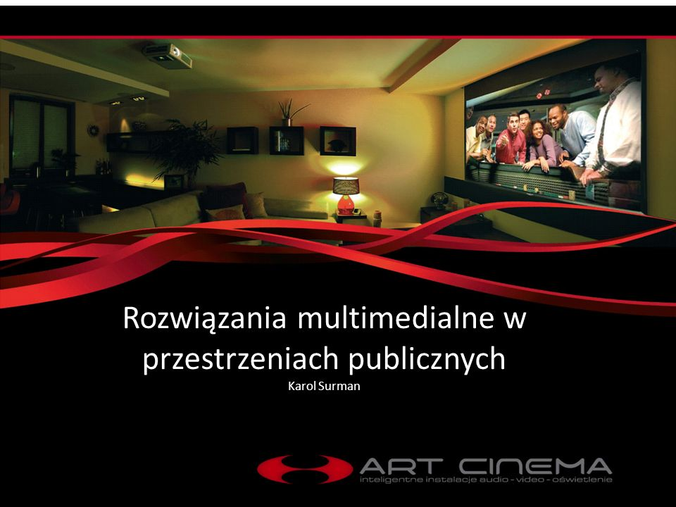 Rozwiązania multimedialne w przestrzeniach publicznych Obiekty komercyjne Obiekty wielomodułowe Obiekty rezydencjalne Rozwiązania projekcji wielkoformatowej Projekcja i iluminacja zewnętrzna Sterowanie oświetleniem Sale konferencyjne Digital signage – cyfrowa informacja wizualna Rozwiązania specjalistyczne w zakresie techniki multimedialnej Technologie interaktywne Kompleksowe doradztwo, projektowanie i audyt dla inwestycji Systemy rezydencjalnego okablowania strukturalnego Rozwiązania sprzedażowe i reklama interaktywna Sterowanie oświetleniem Pakiety wyposażenia dla klientów końcowych Doradztwo w zakresie akustyki budowlanej i norm hałasowych Zintegrowana oferta rozwiązań dla instalacji niskoprądowych Systemy dystrybucji dźwięku i obrazu Systemy multimedialne Media room Instalacje kina domowego Projektowanie i doradztwo techniczne Technologie multimedialne dla nowoczesnych domów i apartamentów Specjalistyczne rozwiązania od wiodących producentów światowych Jesteśmy liderem w dostarczaniu rozwiązań w zakresie systemów sterowania, systemów audiowizualnych i sterowania oświetleniem dla budynków rezydencjalnych, a także komercyjnych.