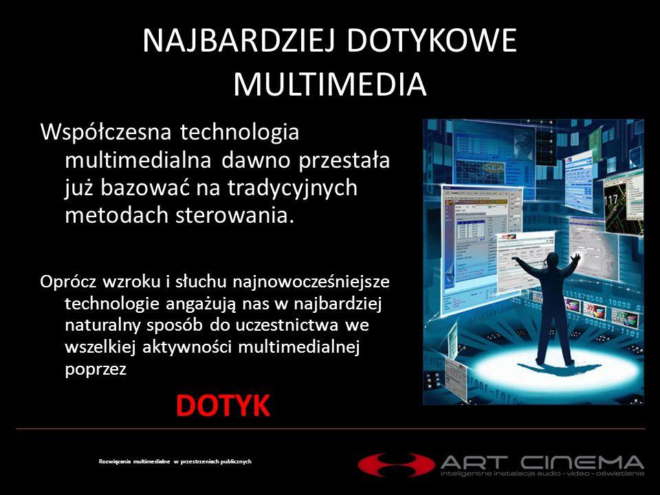 INTERFEJS DOTYKOWY Jednopunktowy Doskonały dla niedużych rozmiarów wyświetlaczy interaktywnych, infokiosków, wszelkiego typu zintegrowanych systemów sterowania Rozwiązania multimedialne w przestrzeniach publicznych