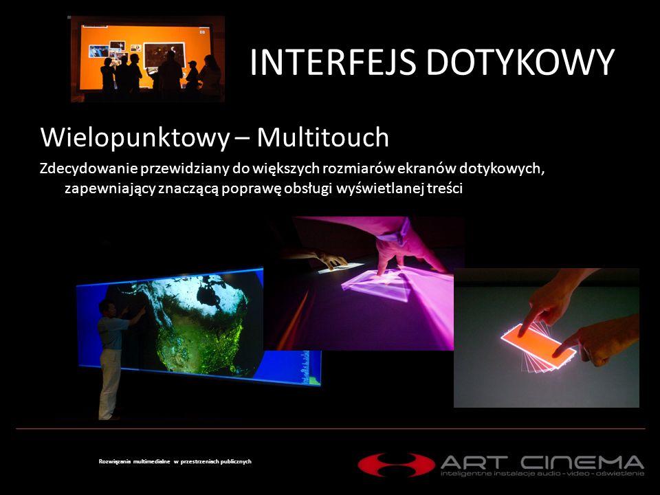 INTERFEJS DOTYKOWY Wirtualny – Gesture Control Przystosowany do interakcji z materiałem 3D i odczytujący ruchy i mimikę osoby celem przeglądania zawartości.