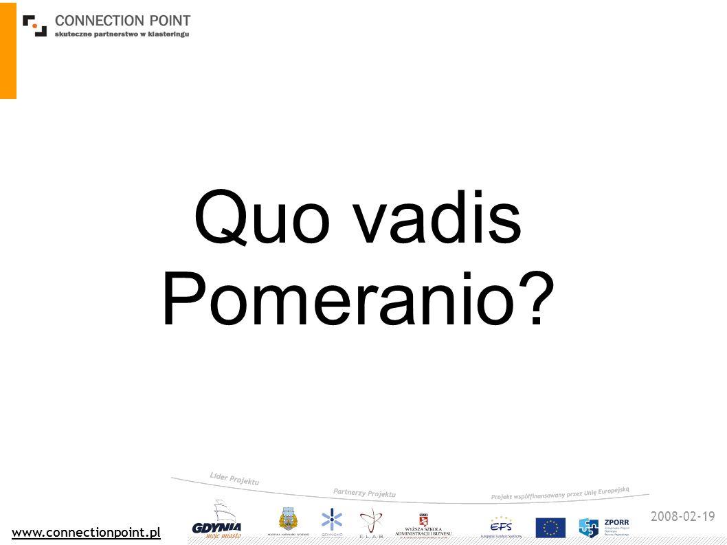 2008-02-19 www.connectionpoint.pl Quo vadis Pomeranio