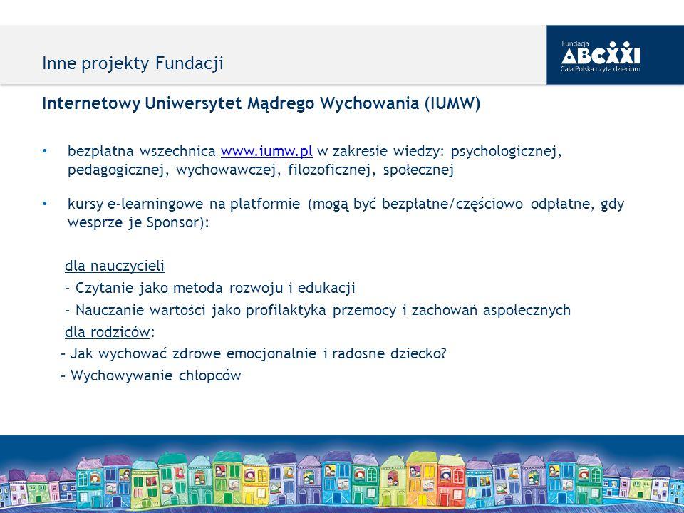 Internetowy Uniwersytet Mądrego Wychowania (IUMW) bezpłatna wszechnica www.iumw.pl w zakresie wiedzy: psychologicznej, pedagogicznej, wychowawczej, fi