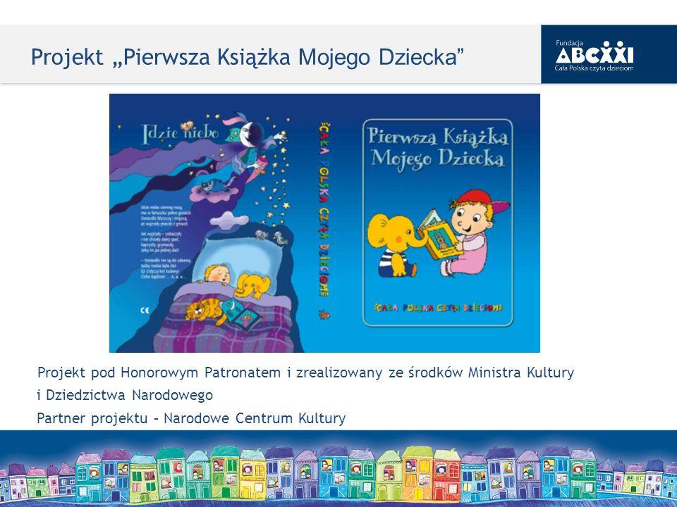 Projekt Pierwsza Książka Mojego Dziecka Projekt pod Honorowym Patronatem i zrealizowany ze środków Ministra Kultury i Dziedzictwa Narodowego Partner p