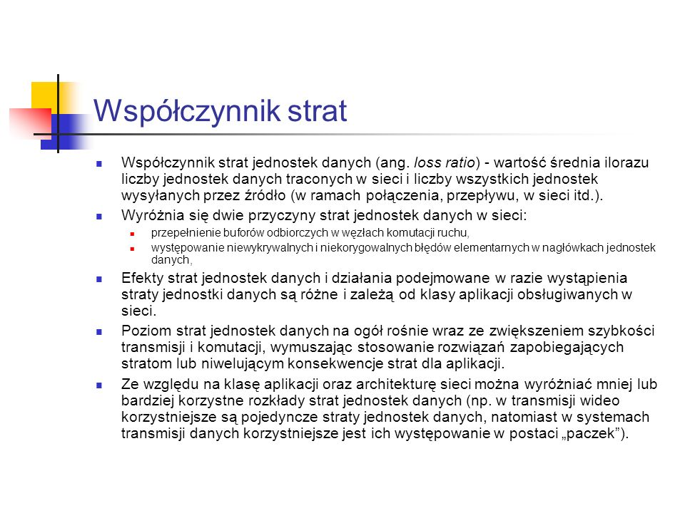 Współczynnik wtrącania Współczynnik wtrącania jednostek danych (ang.