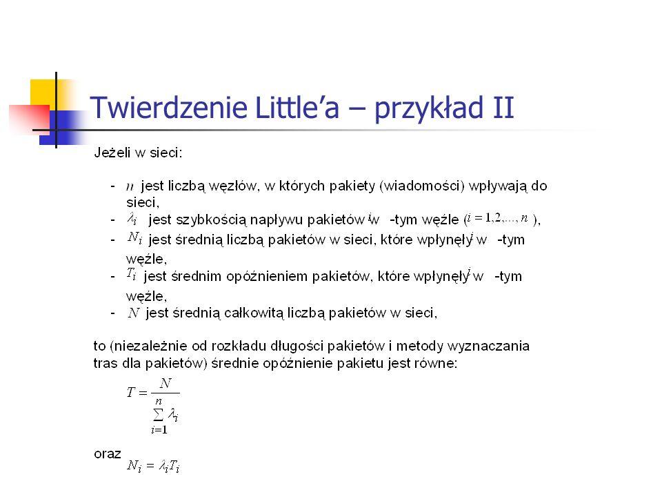 Twierdzenie Littlea – przykład II
