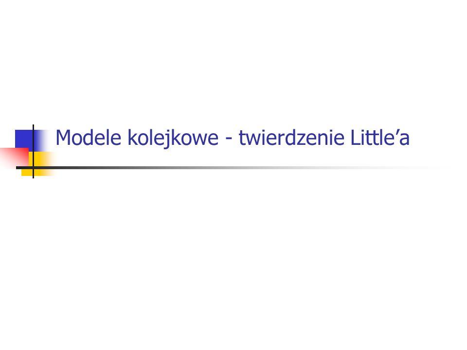 Modele kolejkowe - twierdzenie Littlea