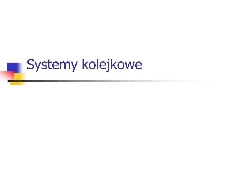 System kolejkowy z opóźnieniami M/M/1 - współczynnik wykorzystania współczynnik wykorzystania średnia liczba zgłoszeń w systemie