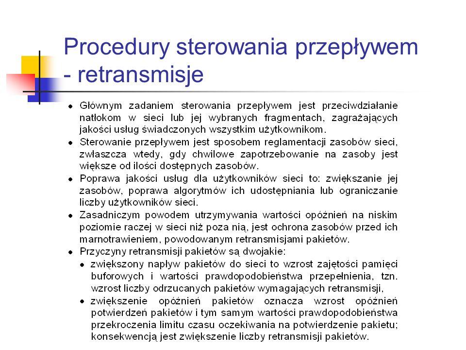 Procedury sterowania przepływem - retransmisje