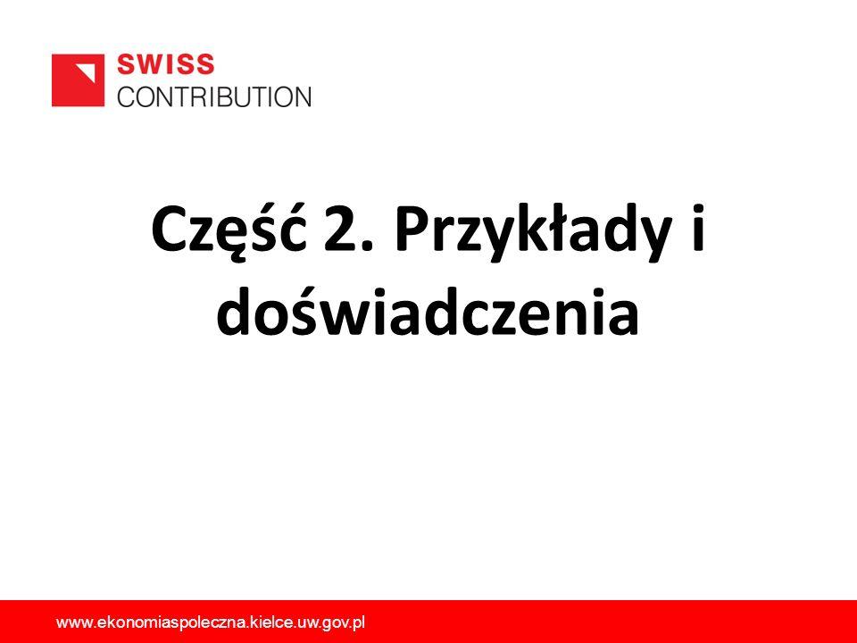 Część 2. Przykłady i doświadczenia www.ekonomiaspoleczna.kielce.uw.gov.pl