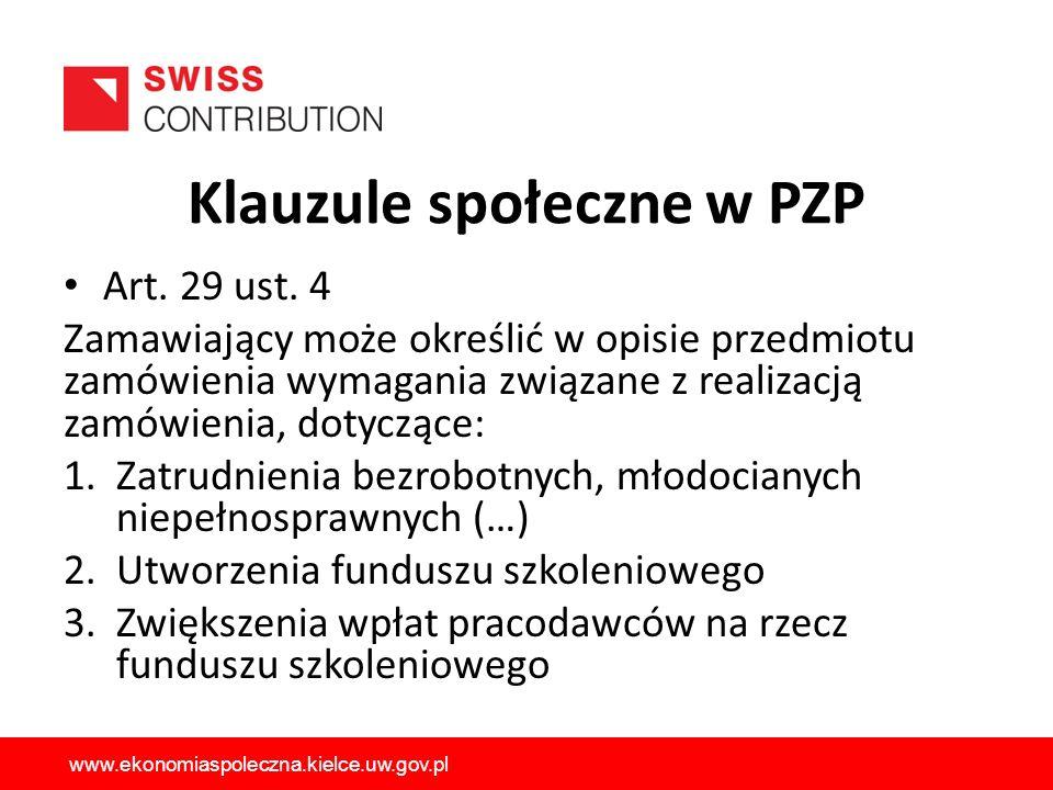 Klauzule społeczne w PZP Art.29 ust.