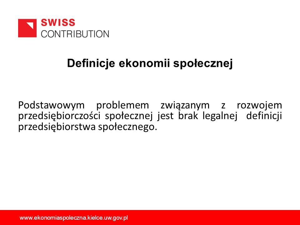 W 2013 wprowadzona została nowelizacja ustawy o pomocy społecznej, która nałożyła na samorząd województwa obowiązki w zakresie koordynowania działań na rzecz rozwoju sektora ekonomii społecznej w regionie oraz diagnozowania i monitorowania wybranych problemów społecznych w tym obszarze www.ekonomiaspoleczna.kielce.uw.gov.pl