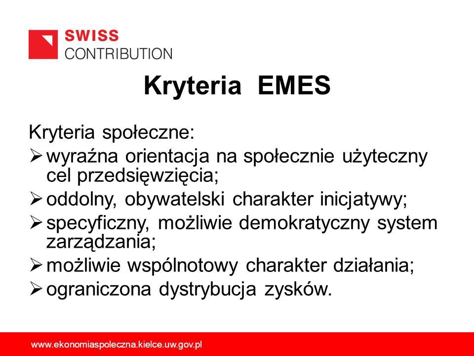Kryteria społeczne: wyraźna orientacja na społecznie użyteczny cel przedsięwzięcia; oddolny, obywatelski charakter inicjatywy; specyficzny, możliwie d