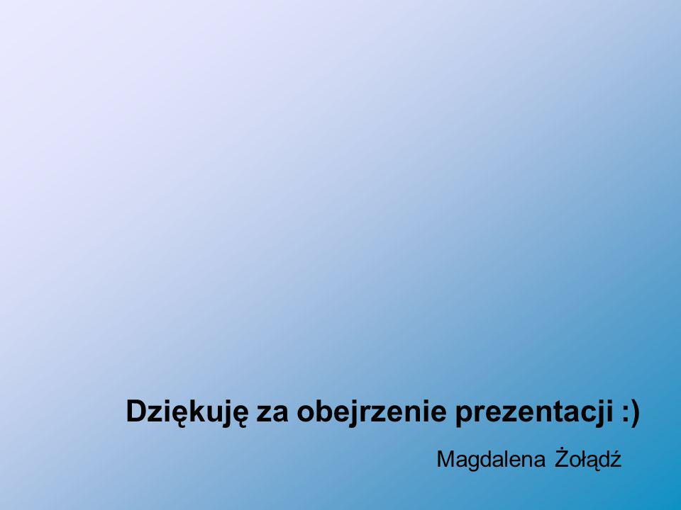 Dziękuję za obejrzenie prezentacji :) Magdalena Żołądź