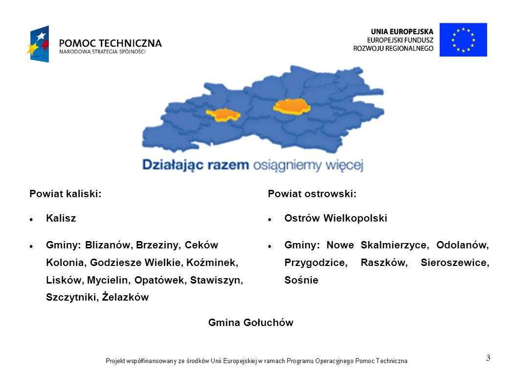 4 CELE PROJEKTU Cel główny: Wprowadzenie zintegrowanego podejścia do rozwiązywania problemów Aglomeracji Kalisko - Ostrowskiej w okresie od 01.09.2013r.