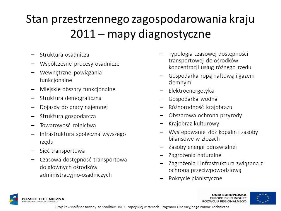 Stan przestrzennego zagospodarowania kraju 2011 – mapy diagnostyczne – Struktura osadnicza – Współczesne procesy osadnicze – Wewnętrzne powiązania fun